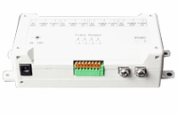Quad balun Bridge, supplies power & RS485 to 4 cameras, outputs video to monitor side