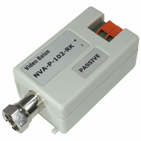 Rackmountable video Balun, F male, camera and monitor side