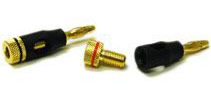 Speaker screw-on banana plugs for up to 8 AWG wire