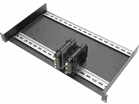 "Intelix DIN-RACK-KIT-F Standard 19"" Rack Plate with Two 17"" Mounted"
