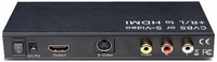 Composite Video & S-Video + Audio to HDMI Converter