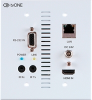 tvONE 1T-CT-654-USWP HDMI 4K UHD HDBaseT 5-Play Wallplate Receiver