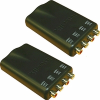 Intelix AVO-A4-PAC-F Dual Stereo Audio CAT-5 Balun with RCA Connectors (Pair)