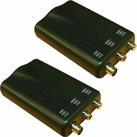 Intelix AVO-V1A2-F Stereo Audio and Composite Video CAT-5 Balun (Pair)