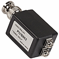Video Balun, BNC male & screw terminals, camera and monitor side