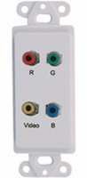 Video Balun Over Cat-5 Component Video (RD,GN,BL), Composite Video (YL)