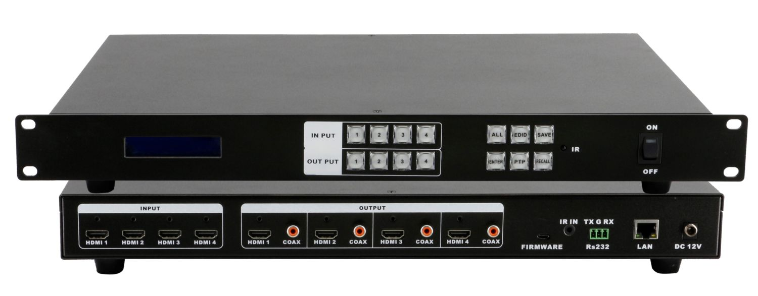 WolfPack 4K/60 4x4 HDMI Matrix Switch Announced by HDTV Supply, Inc.
