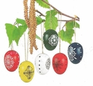 Colorful Easter Egg Tree Ornaments (Set of 6) - Wolfgang Werner