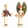 Angel and Miner Candle Holders (Set of 2) - Wolfgang Braun