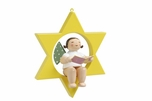 Angel Holding Song Book In Star Tree Ornament (New in 2017)- Wendt & Kühn