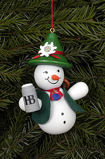 Bavarian Snowman Christmas Tree Ornament Ulbricht Gmbh Co