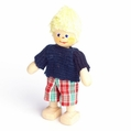 Blonde Boy Wearing Blue Shirt Doll - Annedore Krebs