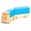 Blue Container Truck With Trailer - Ebert GmbH