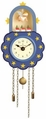 Blue Wall Clock With Suspended Angel - Wendt & Kühn