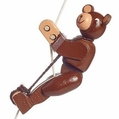 Brown Bear String Climber Toy - Dregeno Seiffen