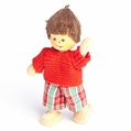 Brown Haired Boy Wearing Red Sweater Doll - Annedore Krebs