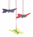 Colorful Flying Butterflies Easter Tree Ornaments (Set of 3) - Christian Ulbricht GmbH & Co
