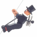 The Chimney Sweeper String Climber Toy - Dregeno Seiffen