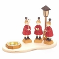 Choir Children Dressed In Red Candle Holder (1 Tealight) - Holzkunst Mueller