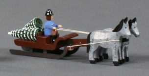 Christmas Tree Delivery Horse Drawn Sleigh - Flaht