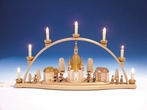 Dresden City Scenery Schwibbogen (7 Electric Candles) - Knuth Neuber
