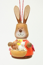 Easter Bunny Holding Basket of Baby Bunnies Tree Ornament - Christian Ulbricht GmbH & Co