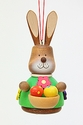 Easter Bunny Holding Basket of Eggs Tree Ornament - Christian Ulbricht GmbH & Co
