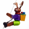 Easter Bunny String Climber Toy - Dregeno Seiffen
