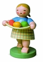 Easter Girl Carrying Tray Of Eggs - Wendt & Kühn