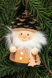 Handcrafted german gifts fir cone man christmas tree for Fir cone christmas tree decorations