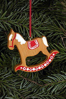 Handcrafted German Gifts - Gingerbread Rocking Horse With Red Trim ...