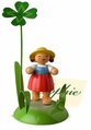 Girl With Four Leaf Clover Placecard Holder - Wendt & Kühn
