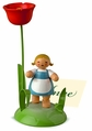 Girl With Poppy Placecard Holder - Wendt & Kühn