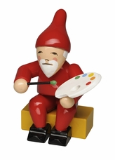 Gnome Holding Paint Brush and Palette (New in 2018) - Wendt & Kuhn