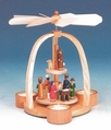 Nativity Scene Pyramid (3 Tealights) - Knuth Neuber