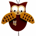 Grey Owl Jumping Jack Toy - Gunther Holzspielwarenmacher
