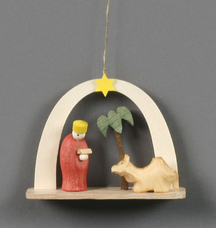 King With Camel And Palm Tree Christmas Tree Ornament Dregeno Seiffen