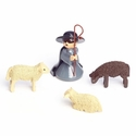 Kneeling Shepherd With Sheep (Set of 4) - ULMIK Studios