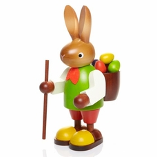 Large Easter Bunny Carrying Egg Basket - Christian Ulbricht GmbH & Co