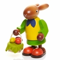 Large Easter Bunny Woman Carrying Egg Basket - Christian Ulbricht GmbH & Co