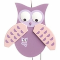 Purple Owl Jumping Jack Toy - Gunther Holzspielwarenmacher