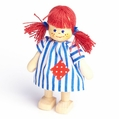 Red Headed Girl With Striped Dress Doll - Annedore Krebs