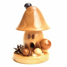 Rustic Mushroom House Incense Smoker - Dregeno Seiffen