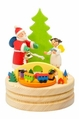 Santa And Angel Themed Music Box - Graupner Holzminiaturen