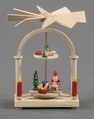 Santa In His Workshop Pyramid (2 Tier - No Candles) - Dregeno Seiffen