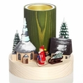 Santa In Seiffen Village Candle Holder (1 Tealight) - Wolfgang Braun