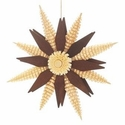 Brown Wooden Star Ornament (6 Inches) - Hoyer Studios