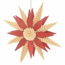 Red Wooden Star Ornament (6 Inches) - Hoyer Studios