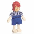 Studious Boy Wearing Glasses and Blue Shorts Doll - Annedore Krebs