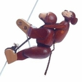 The Monkey String Climber Toy - Dregeno Seiffen